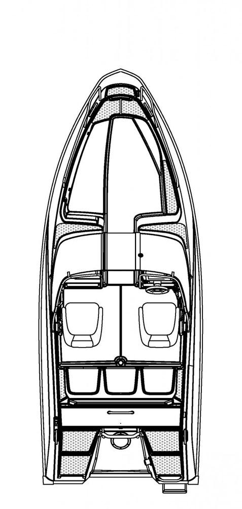 Схема катера Buster XLe