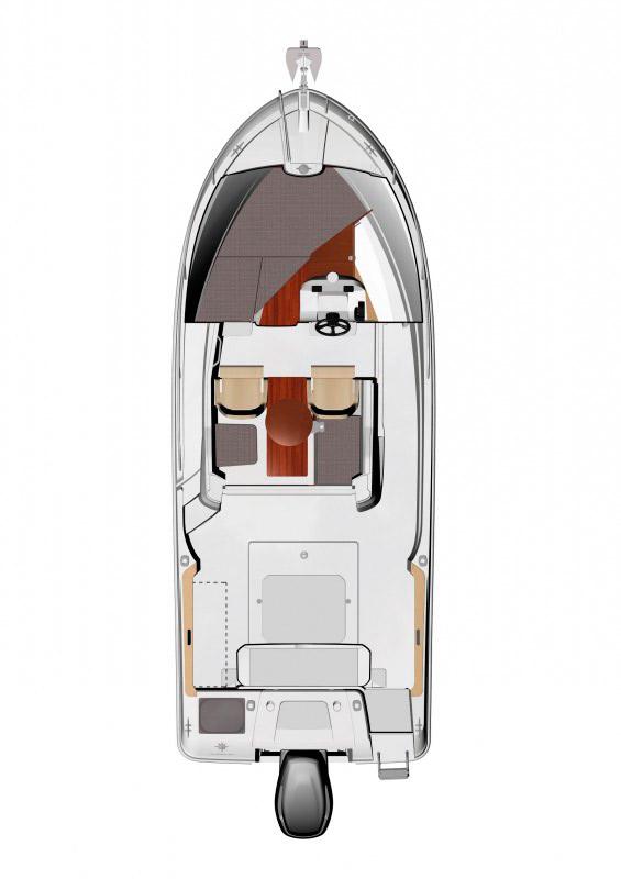 Схема катера Jeanneau Merry Fisher 695 Marlin
