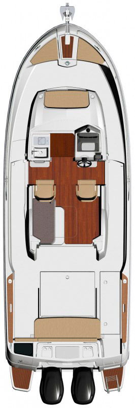 Схема катера Jeanneau Merry Fisher 855 Marlin