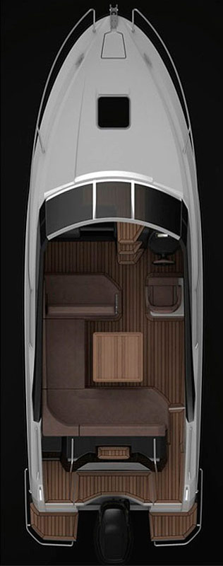 Схема катера Parker 750 Day Cruiser