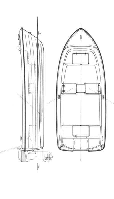 Схема катера Quicksilver 440 Fish