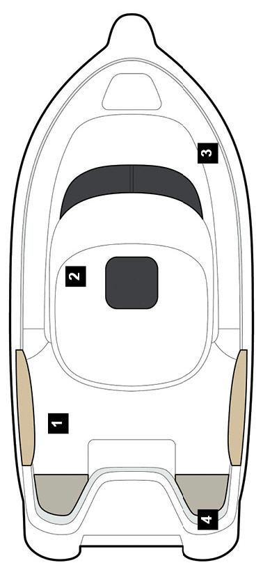 Схема катера Quicksilver 580 Pilothouse