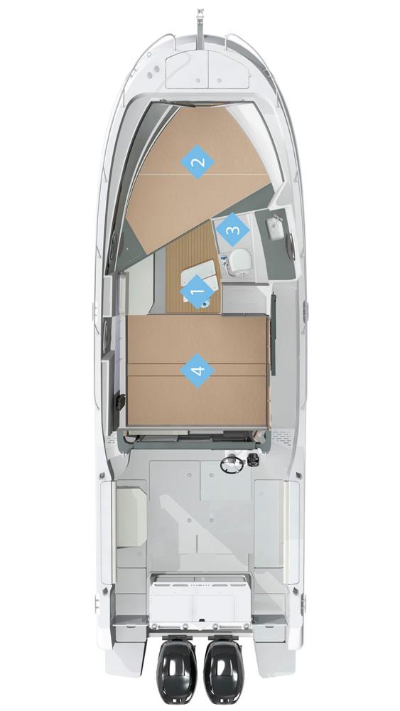 Схема катера Quicksilver 905 Pilothouse