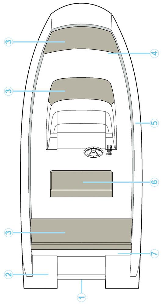 Схема катера Quicksilver Activ 505 Open