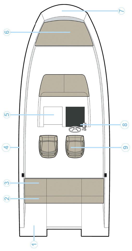 Схема катера Quicksilver Activ 675 Open
