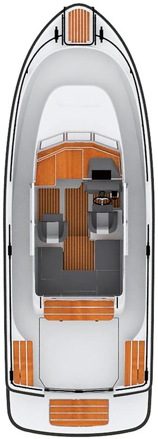 Схема катера Sargo 25 Explorer