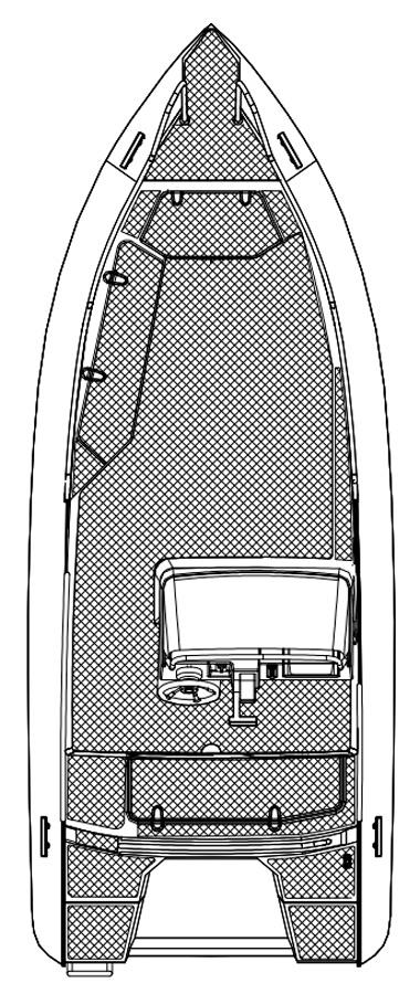 Схема катера Silver Fox Avant 485
