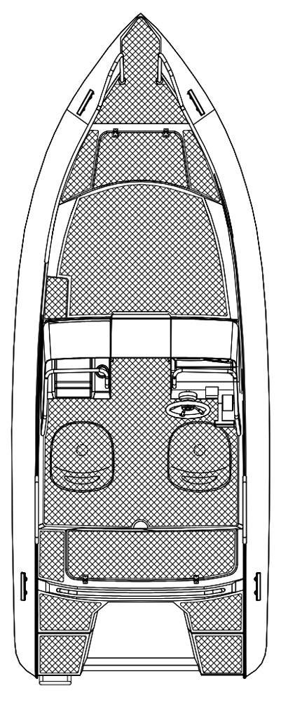 Схема катера Silver Fox BR 485