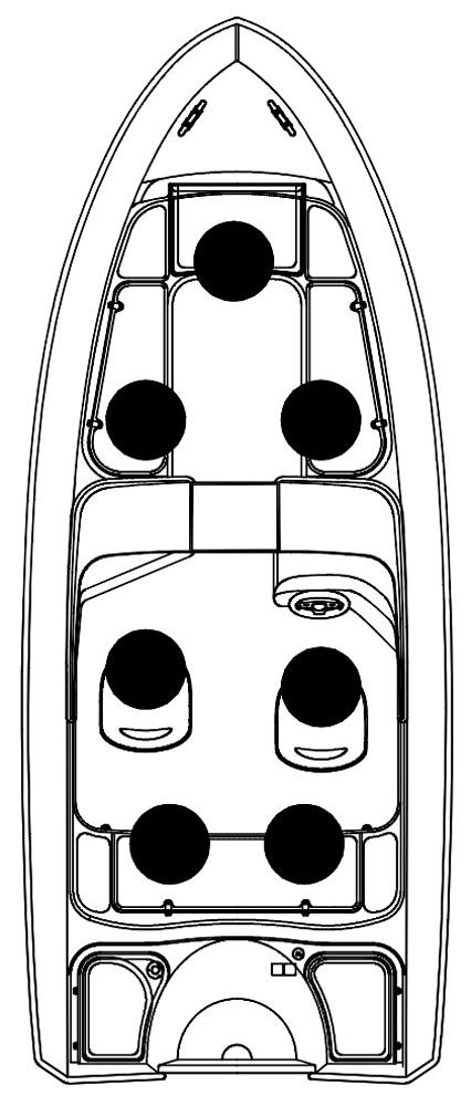 Схема катера Silver Hawk BR 540