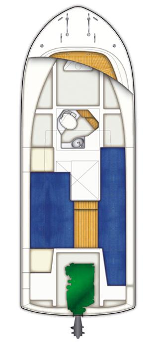 Схема катера Targa 27.1