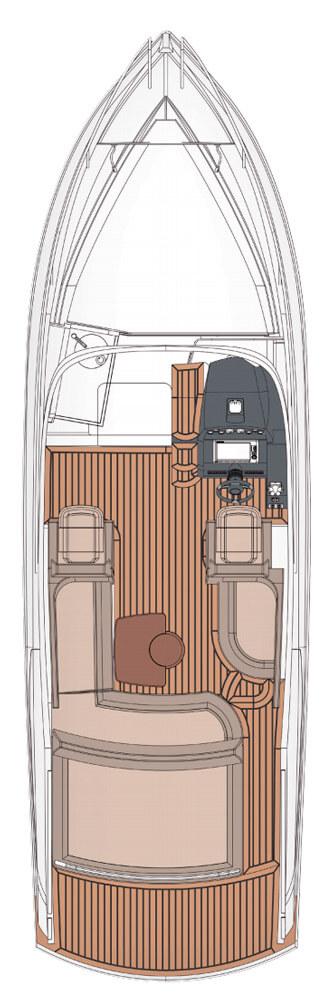 Схема катера Windy 29 Coho