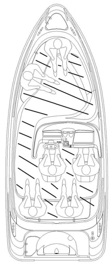 Схема катера Yamarin 56 Side Console
