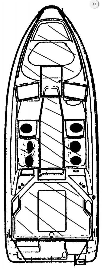 Схема катера Yamarin 59 Cabin