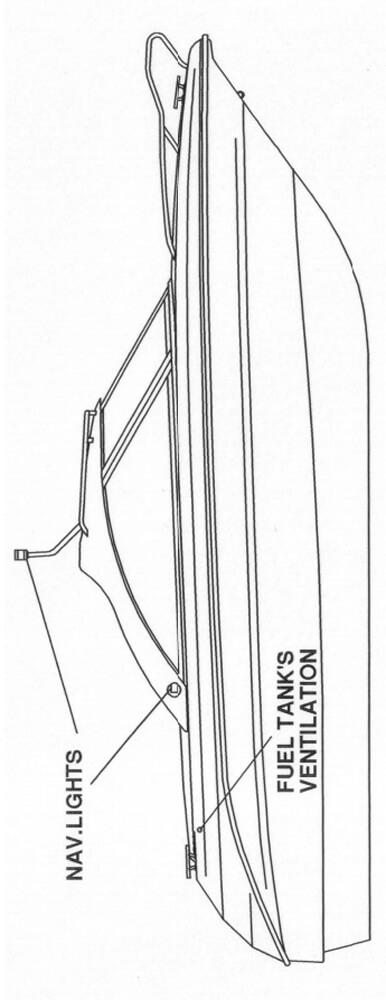 Схема катера Yamarin 59 Hard Top