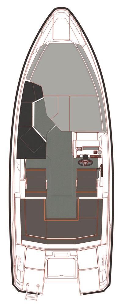 Схема катера Yamarin 63 Hard Top