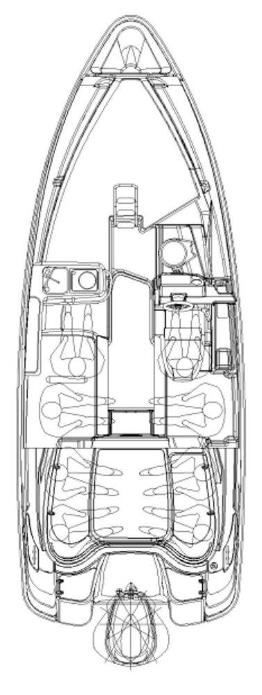 Схема катера Yamarin 68 Cabin
