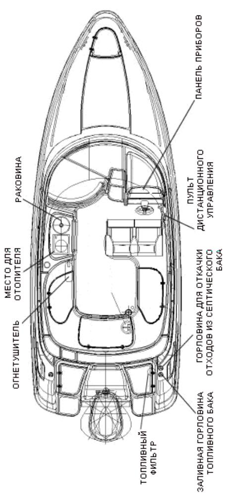 Схема катера Yamarin 68 Day Cruiser
