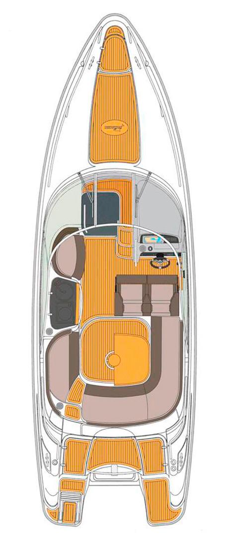 Схема катера Yamarin 79 Day Cruiser