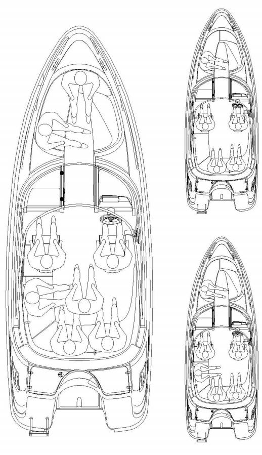 Схема катера Yamarin Cross 61 Center Console