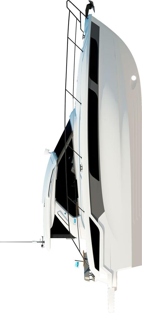 Схема яхты Bavaria Sport 360 Coupe