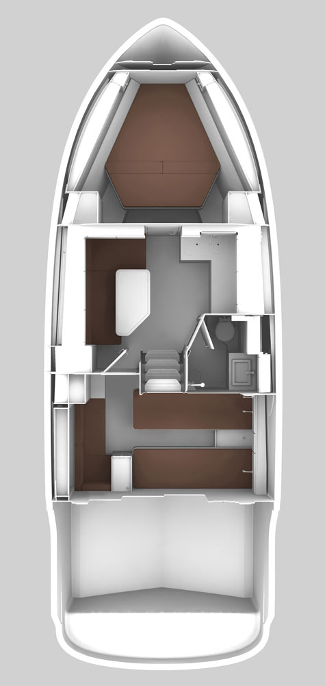 Схема яхты Bavaria Sport 360 HT