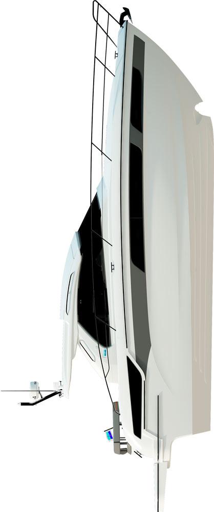 Схема яхты Bavaria Sport 400 HT