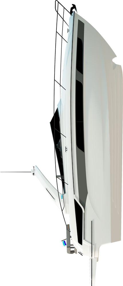 Схема яхты Bavaria Sport 400 Open
