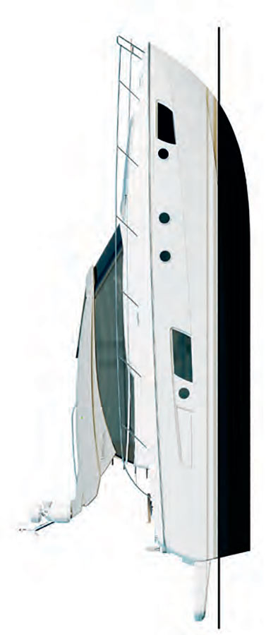 Схема яхты Bavaria Virtess 420 Coupe