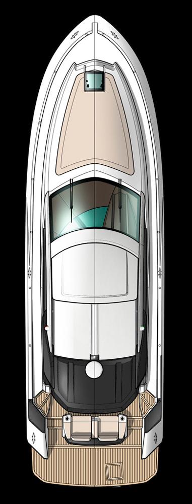 Схема яхты Beneteau Gran Turismo 46