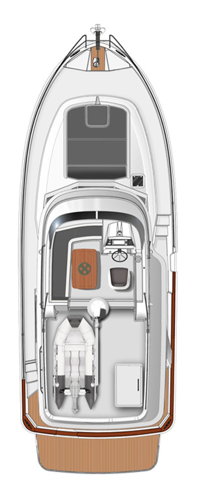 Схема яхты Beneteau Swift Trawler 34