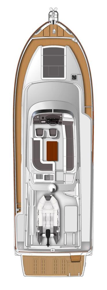 Схема яхты Beneteau Swift Trawler 50