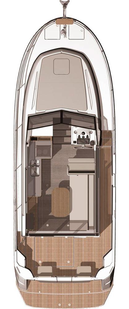 Схема яхты Beneteau Swift Trawler 30
