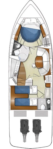 Схема яхты Elan Power 41