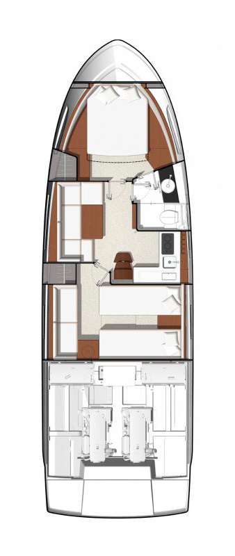 Схема яхты  Jeanneau Leader 40