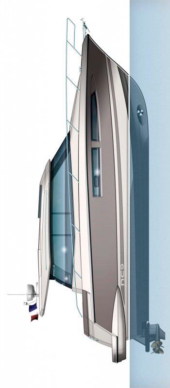 Схема яхты Jeanneau NC 9