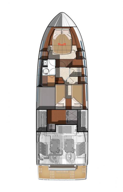 Схема яхты  Jeanneau NC14