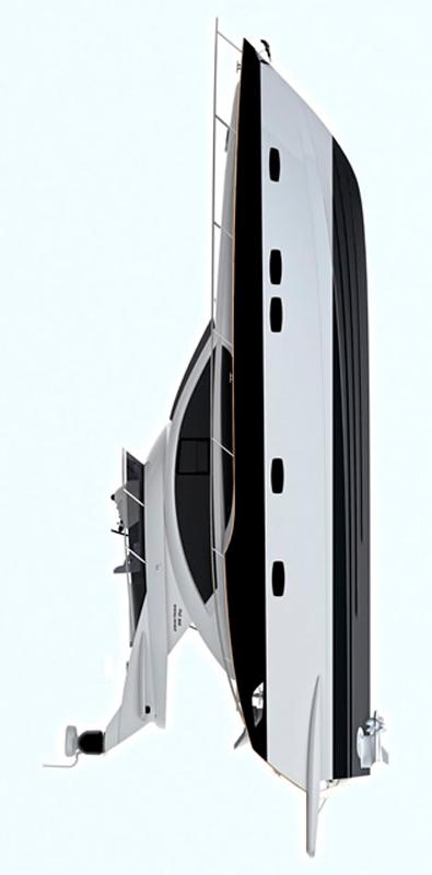 Схема яхты Pearlsea 56 Fly