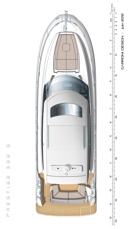 Схема яхты Prestige 500S