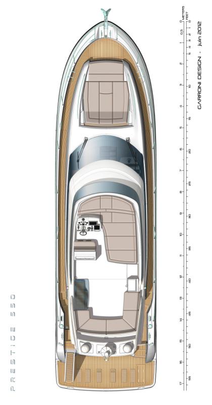 Схема яхты Prestige 550