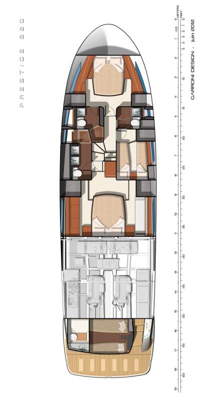 Схема яхты Prestige 620