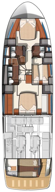 Схема яхты Prestige 620S