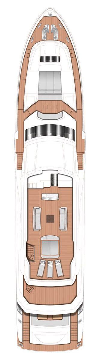 Схема яхты Princess 40M