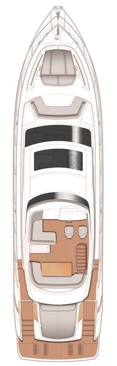 Схема яхты Princess S65