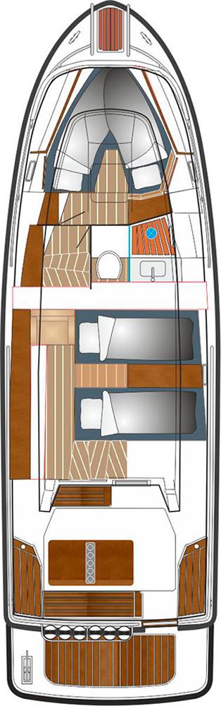 Схема яхты Sargo 33 Explorer