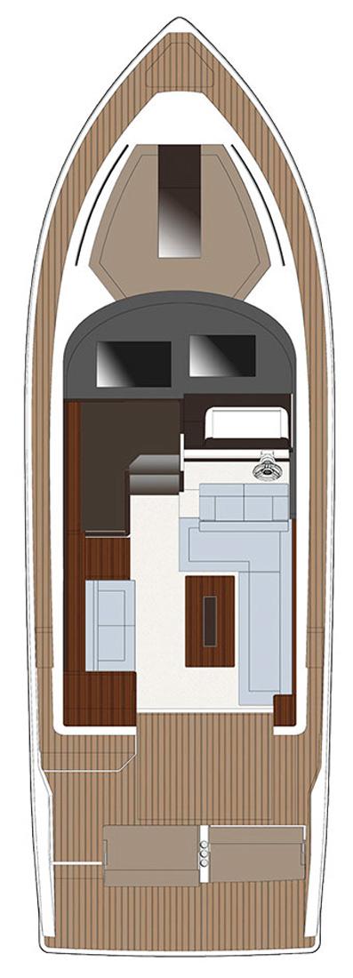 Схема яхты Sealine F380