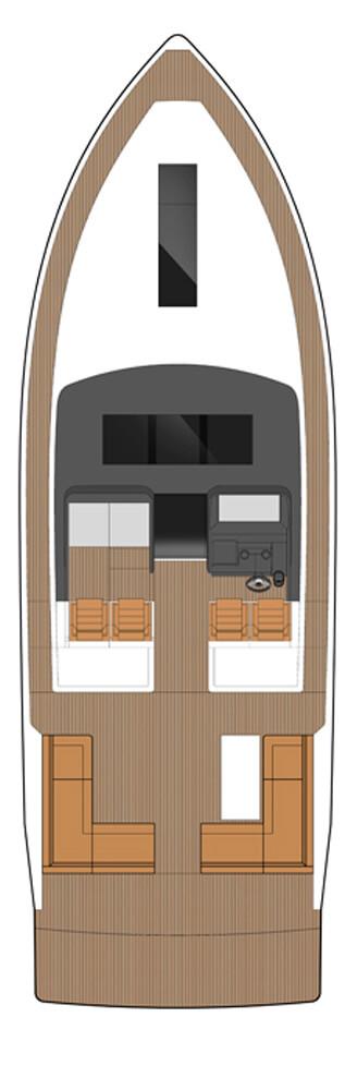 Схема яхты Sealine S450