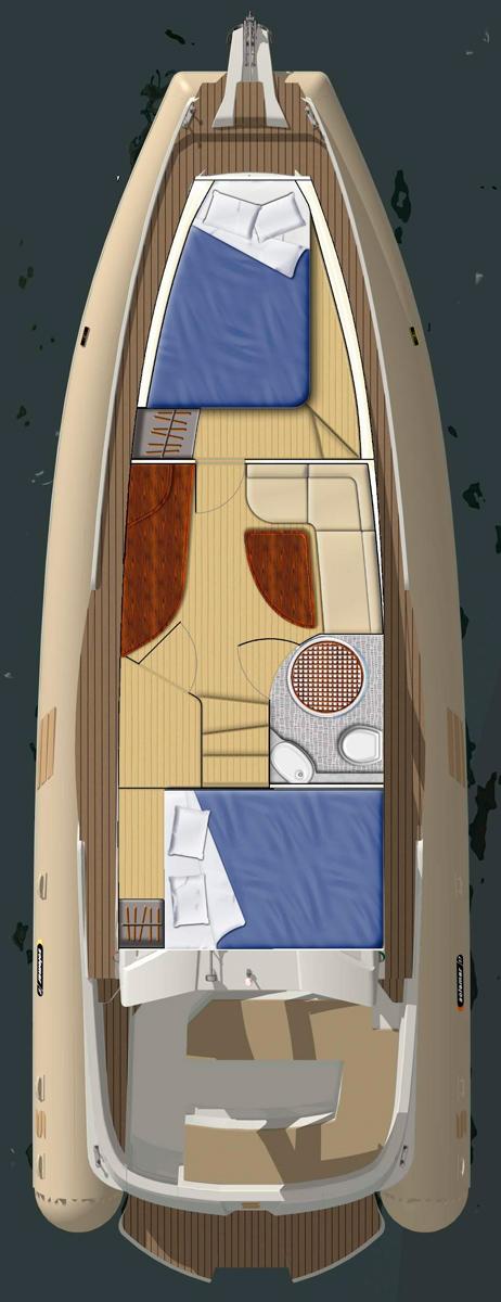 Схема яхты Solemar 37 Oceanic