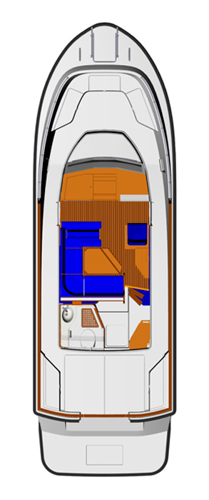 Схема яхты Targa 32