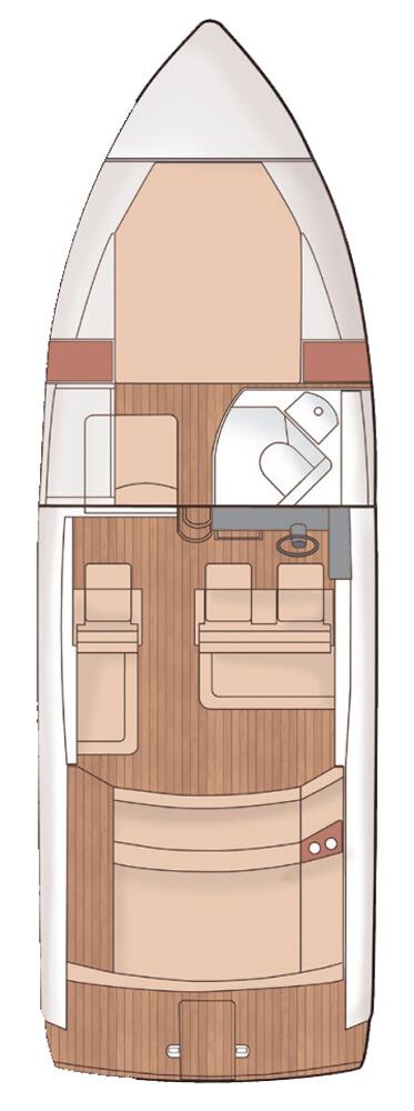 Схема яхты Windy 31 Zonda