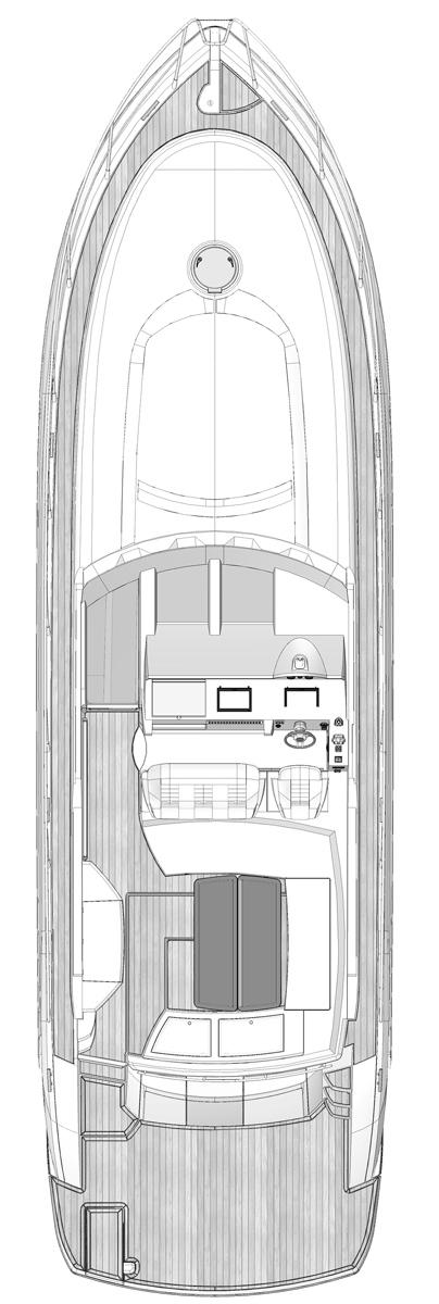 Схема яхты Windy 45 Chinook
